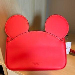 Take 37% Off Disney Coach Red Mickey Wristlet